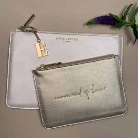 Katie Loxton Personalised 'Beautiful Maid Of Honour' Bridal Pouch Gift Set