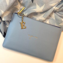 Katie Loxton Personalised 'Be You Tiful' Colour Pop Perfect Pouch In Sky Blue