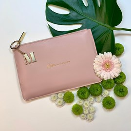 Katie Loxton Personalised 'Mum In A Million' Perfect Pouch In Pale Pink