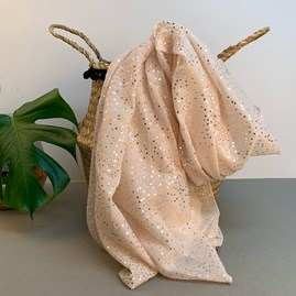 Light Pink Scarf With Metallic Dots