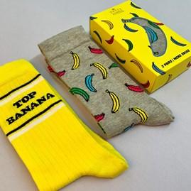 Banana Socks Gift Set Of 2