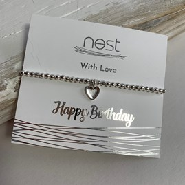 'Happy Birthday' Beaded Charm Bracelet