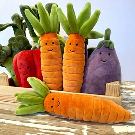 Jellycat Vivacious Vegetable Carrot Soft Toy