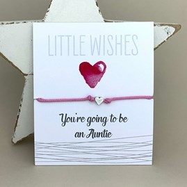 'You're Going To Be An Auntie' Wish Bracelet