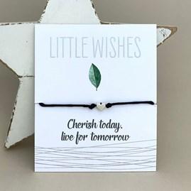 'Cherish Today, Live For Tomorrow' Wish Bracelet