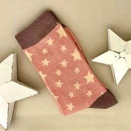 Bamboo Stars Socks in Dusky Pink