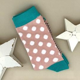 Bamboo Pink Dotty Socks