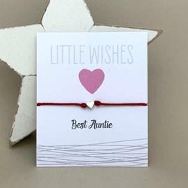 'Best Auntie' Wish Bracelet