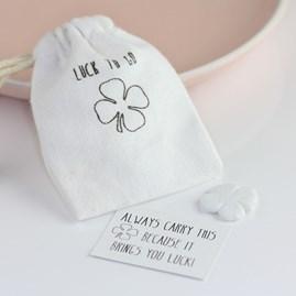 Porcelain Lucky Clover 'Luck To Go' Sentiment