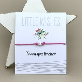 'Thank You Teacher' Wish Bracelet