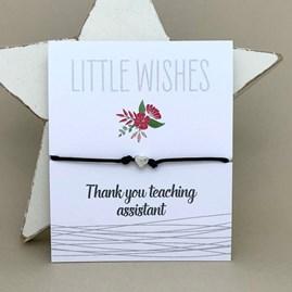'Thank You Teaching Assistant' Wish Bracelet