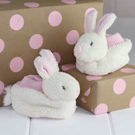 Cream Bunny Soft Baby Shoes