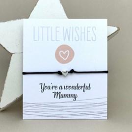 'You're A Wonderful Mummy' Wish Bracelet