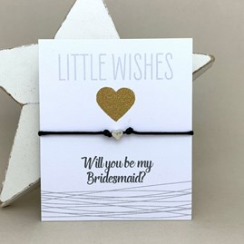 'Will You Be My Bridesmaid?' Wish Bracelet