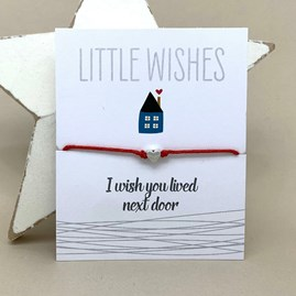 'I Wish You Lived Next Door' Wish Bracelet