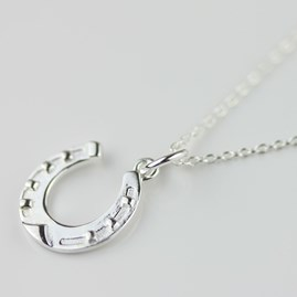 Lucky Solid Silver Horseshoe Necklace