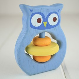 Wooden Baby Grabbing Toy Owl