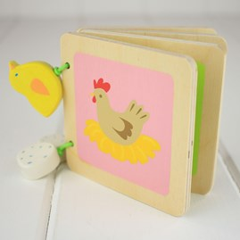 Down On The Farm Wooden Book