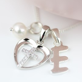 Personalised Child's Silver Christening Cross Pendant