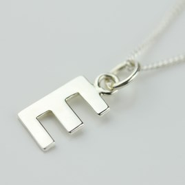 Silver Letter Charm Initial Necklace