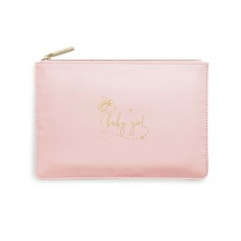 Katie Loxton Personalised Perfect Pouch 'Baby Girl' In Pink