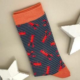 Men's Bamboo Lobster Socks In Grey