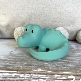 Natural Rubber Rattle & Bath Toy Crocodile