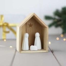 Acacia Wood Nativity Scene