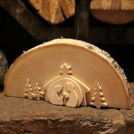 Traditional Large Wooden Nativity Scene