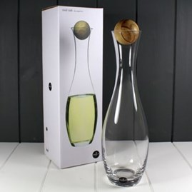 Sagaform White Wine And Water Carafe With Oak Stopper