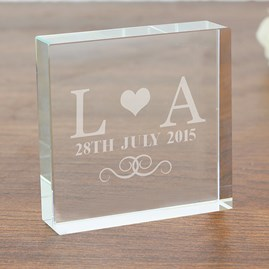 Personalised Wedding Monogram Message Block