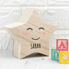 Personalised Smiling Star Trinket Box