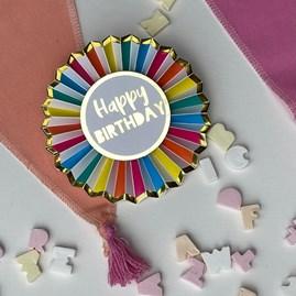 Rainbow 'Happy Birthday' Badge