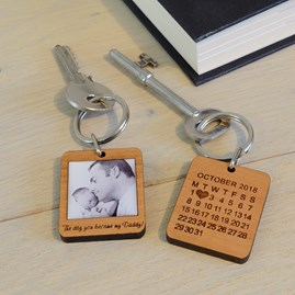 Personalised 'The Day You Became My…' Photo Key Ring