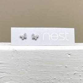 Sterling Silver Butterfly Stud Earrings