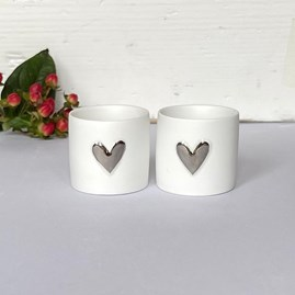 Tealight Holders with Heart Set of 2