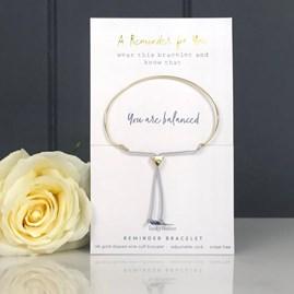 Gold 'You Are Balanced' Reminder Bracelet