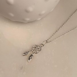 Dream Catcher Silver Necklace
