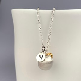 Personalised Silver Apple Pendant