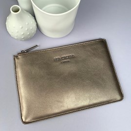 Stunning Pouch In Metallic Gold