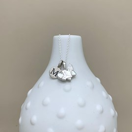 Personalised Solid Silver Origami Rabbit Necklace