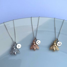 Personalised Honey Bee Necklace