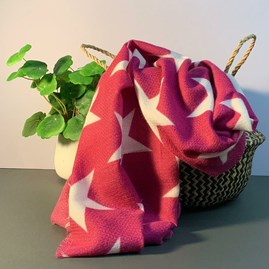 Star Scarf In Plum