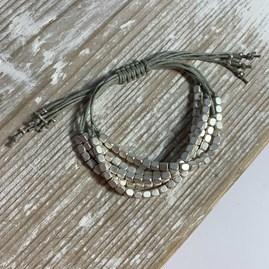 Multi Strand Square Beaded Bracelet