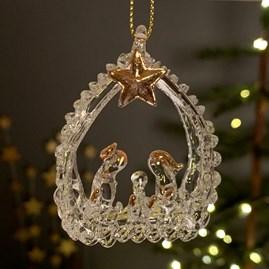 Hanging Glass Nativity Scene