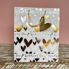 'Wedding Day' Hearts Large Gift Bag