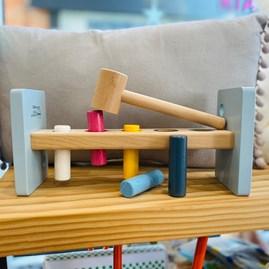Wooden Hammer Bench Toy