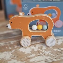 Wooden Push Along Bear Toy