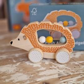 Wooden Push Along Hedgehog Toy