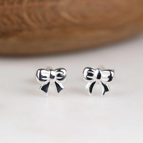 f0543d16f Sterling Silver Bow Stud Earrings